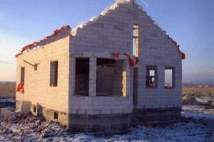 Этапы строительства дома из газобетона - Дом из газобетона фото