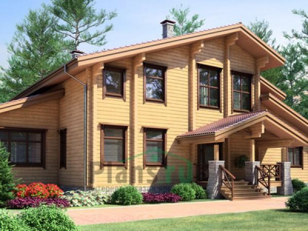 Схема деревянного жилого дома