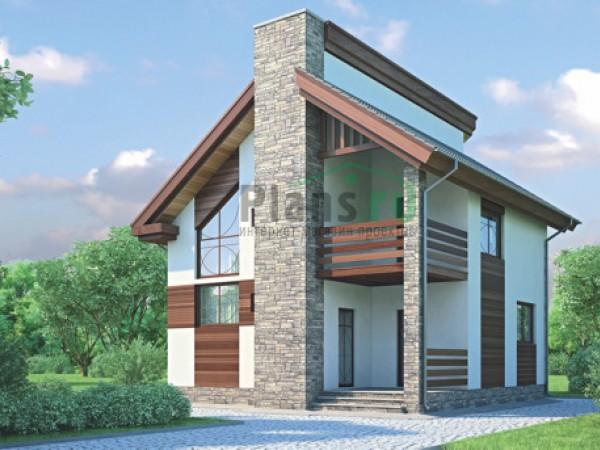 Каркасный загородный дом типовой
