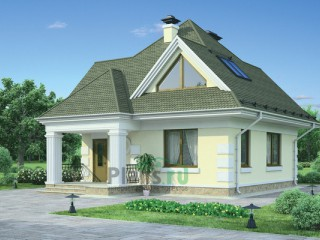 Коттедж из кирпича - Планировка № 54-30