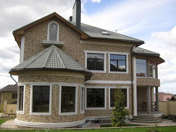 кирпичный красивый дом фото